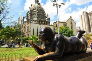 Woman statue by Botero Medellin