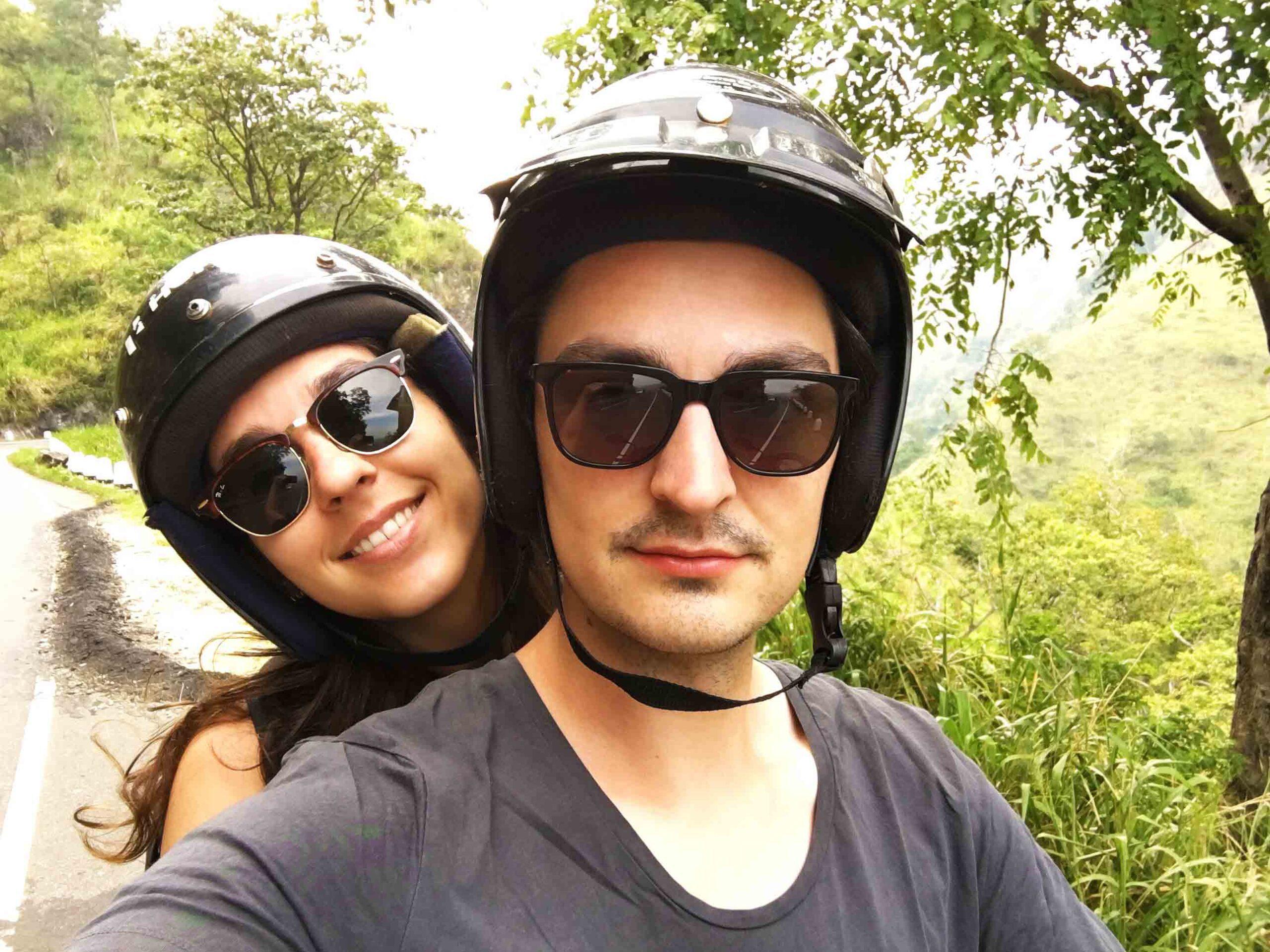 driving scooter ella hills sri lanka