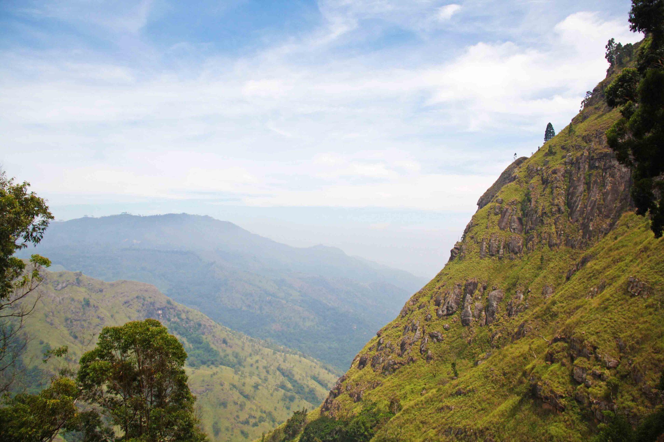 ella rock mountains view sri lanka