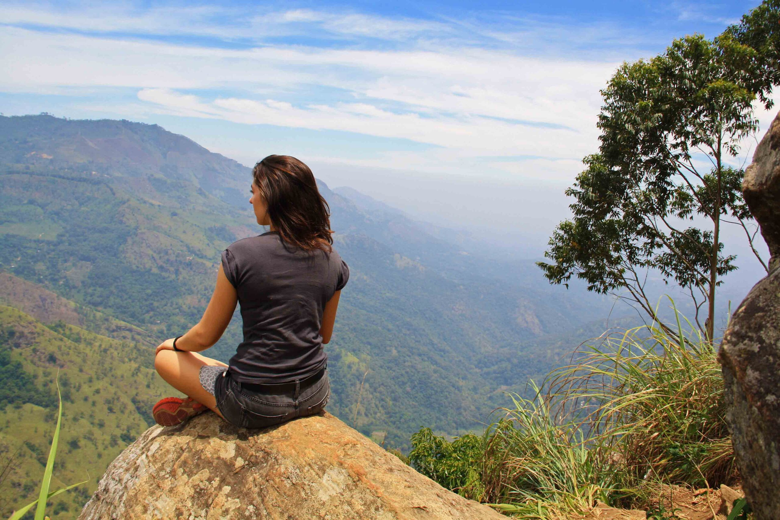 ella rock view climbing mountain sri lanka