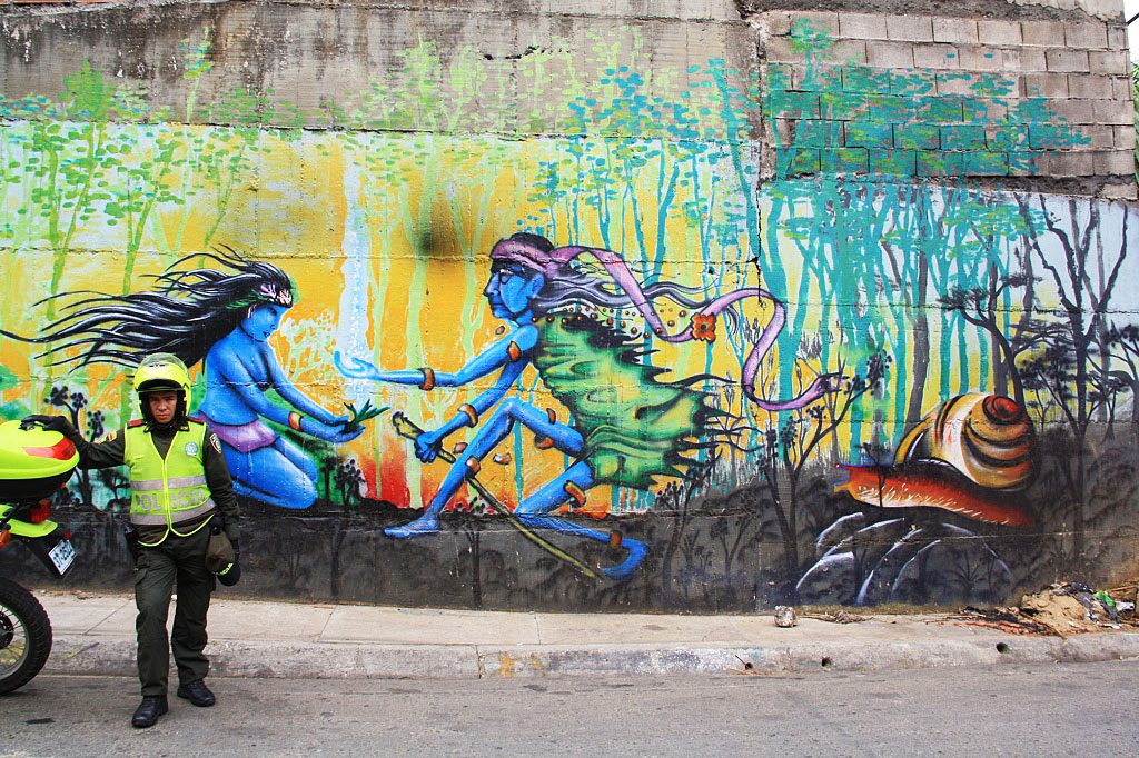 streetart in the favelas of medellin