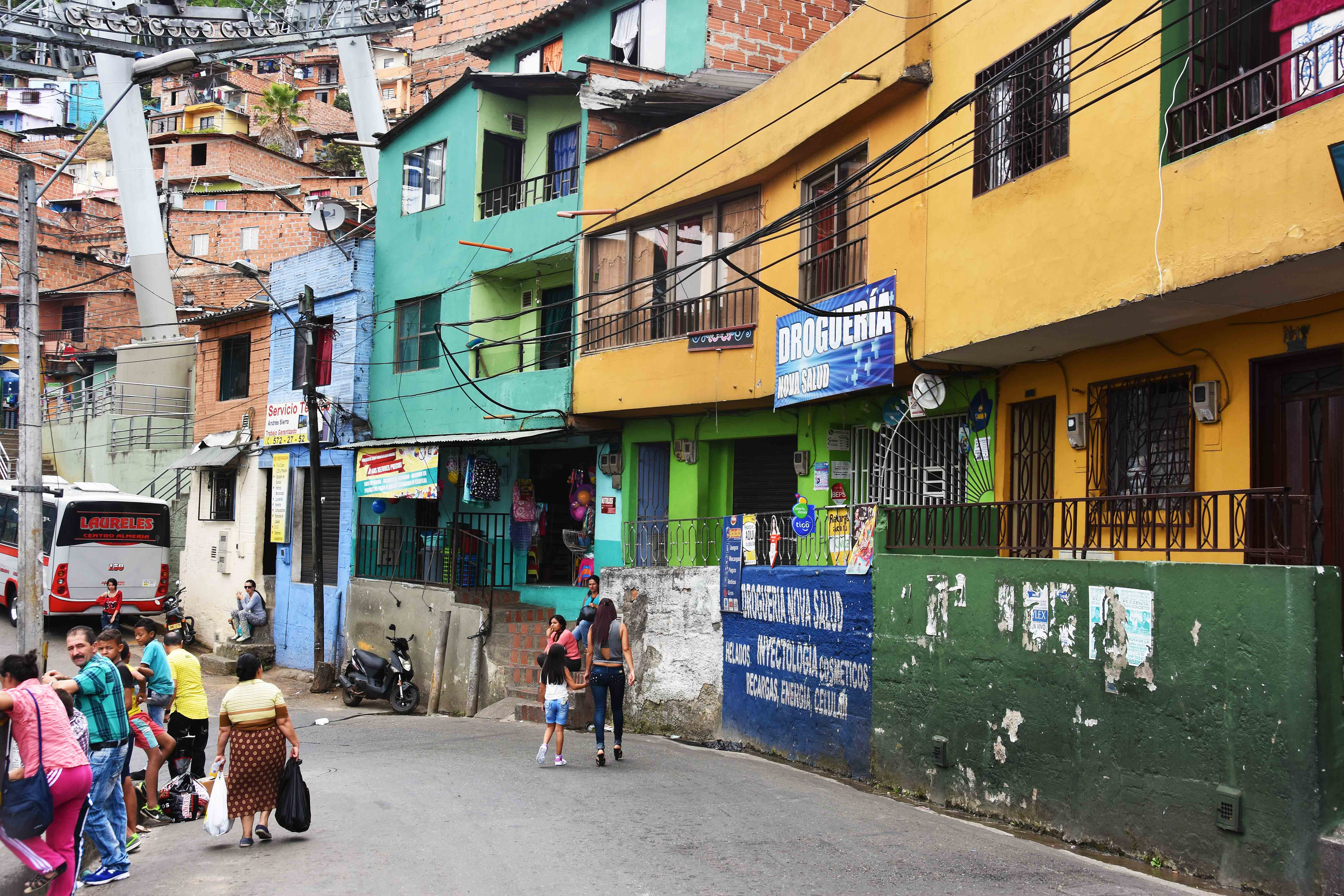favelas of medellin daily street life