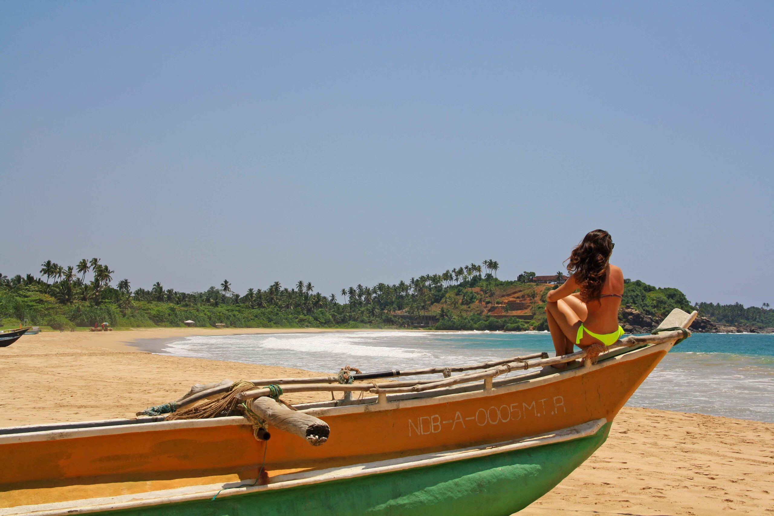 fishing boat talalla beach sri lanka