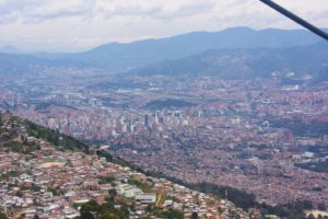 medellin city view from the cable car