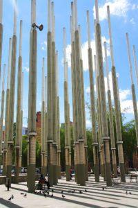 pillars of hope medellin square