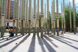 pillars of hope square medellin