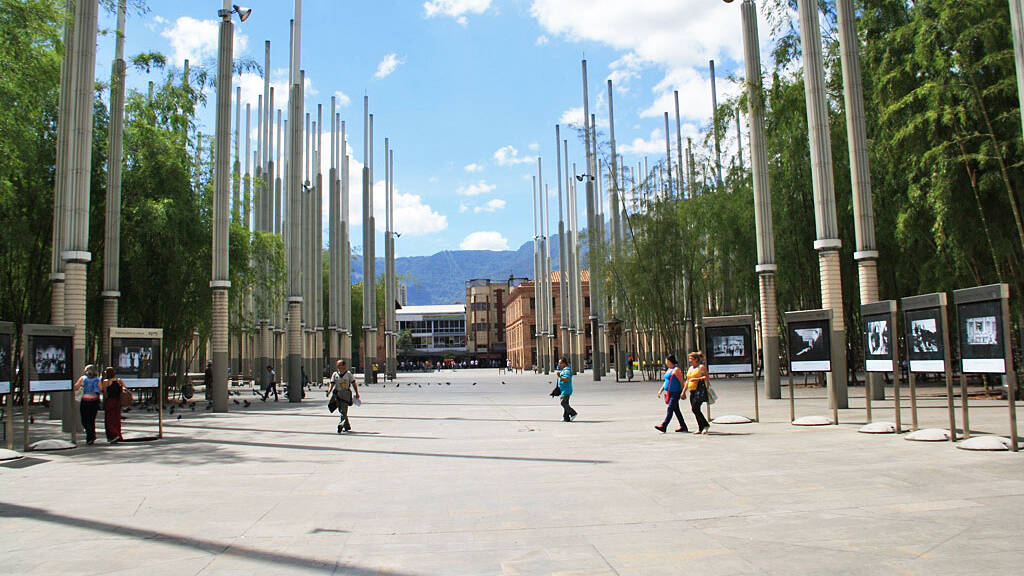 Square of hope in medellin