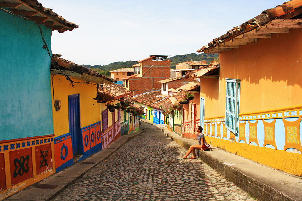 colorful streets of guatape