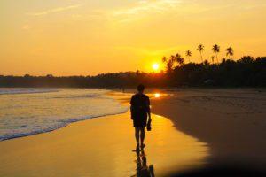 sunset beach walks Talalla sri lanka