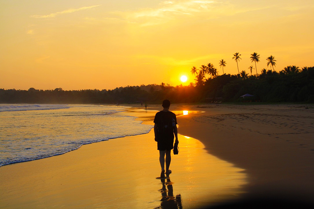 sunset beach walks Talalla sri lanka