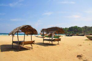 Talalla beach bungalows beds boats sri lanka