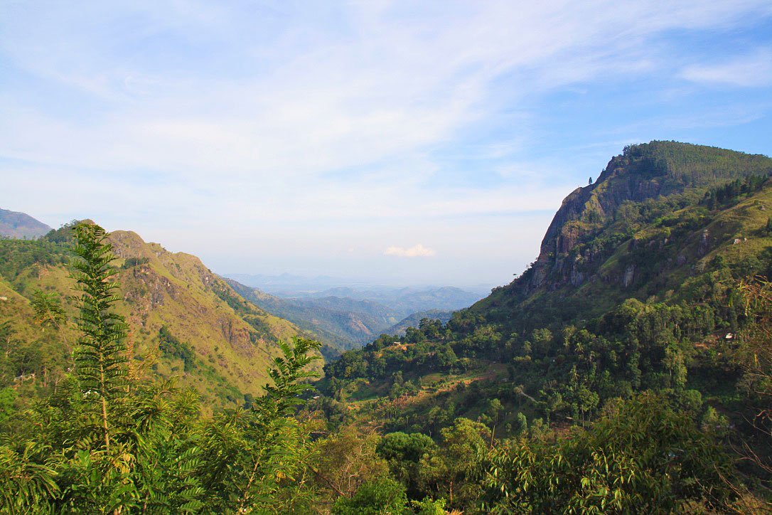 view ella rock nature sri lanka mountains