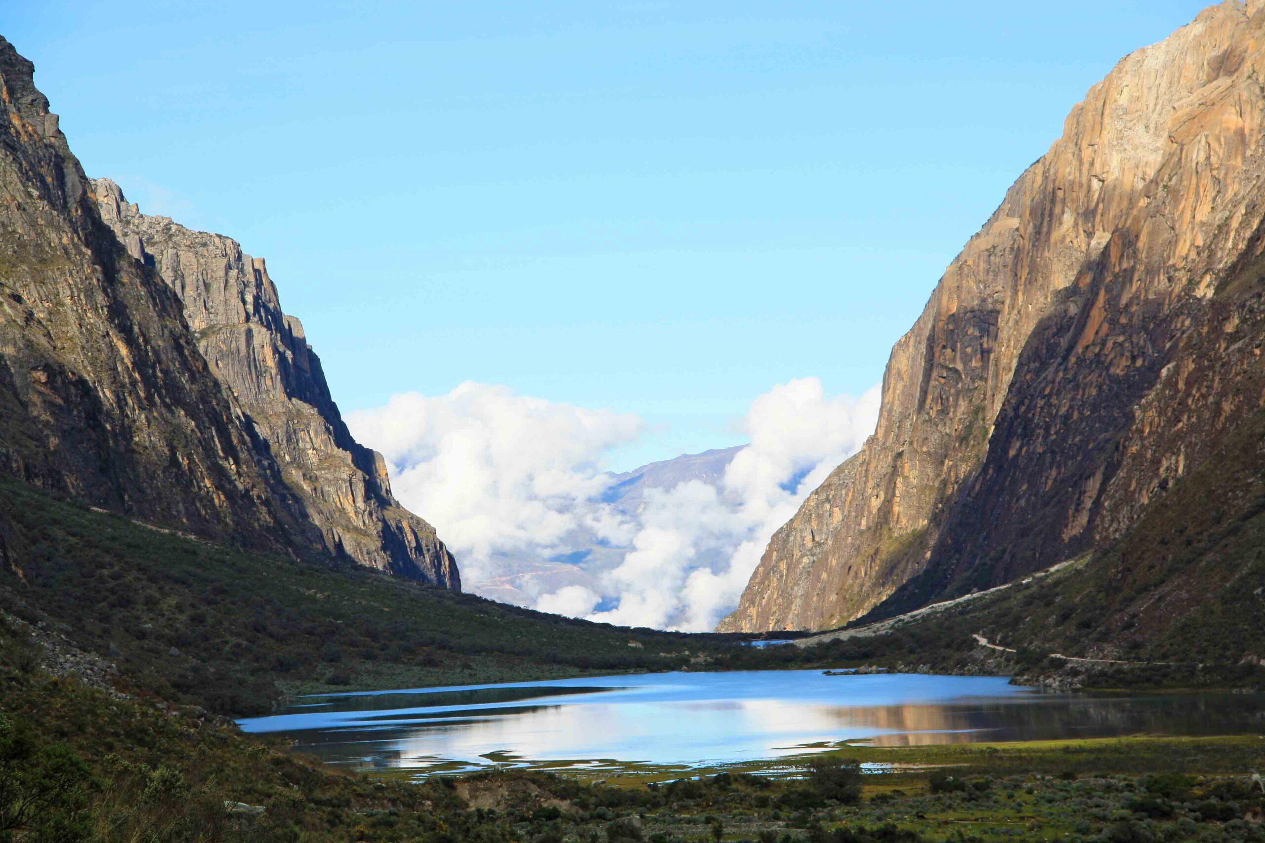 Cordillera Blanca lake view in Huaraz Peru South America
