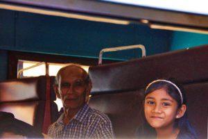 grandpa child train kandy sri lanka