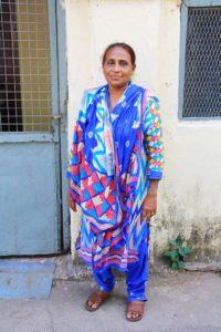 hindu woman in the streets of kandy sri lanka
