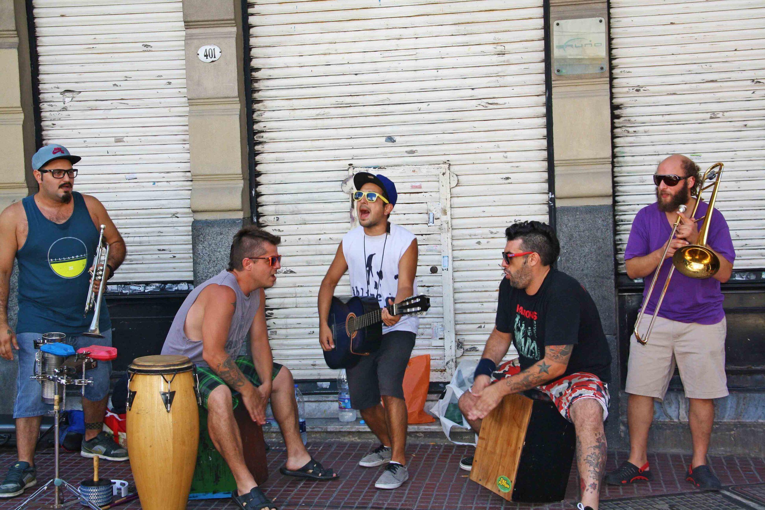 music buenos aires argentina street artists san telmo