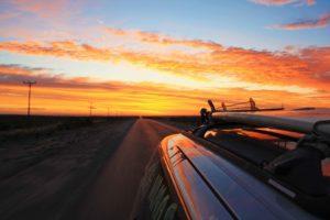 roadtrip patagonia argentina sunset