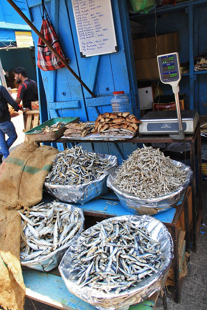 Dried fish on the Pettah market in Colombo Sri Lanka
