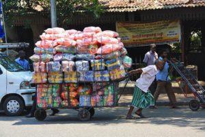 street vendor people pettah colombo sri lanka