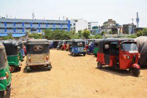 Tuk Tuk parking lot in Colombo Sri Lanka