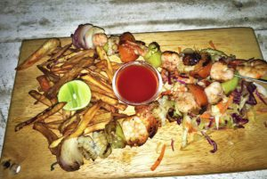 seafood grill bbq food hiriketiya dots bay house sri lanka