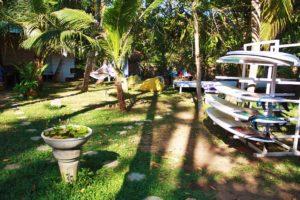 surfboards dots bay house garden hiriketiya sri lanka
