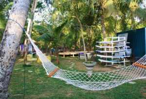 surfboards hammock dots bay house garden hiriketiya sri lanka