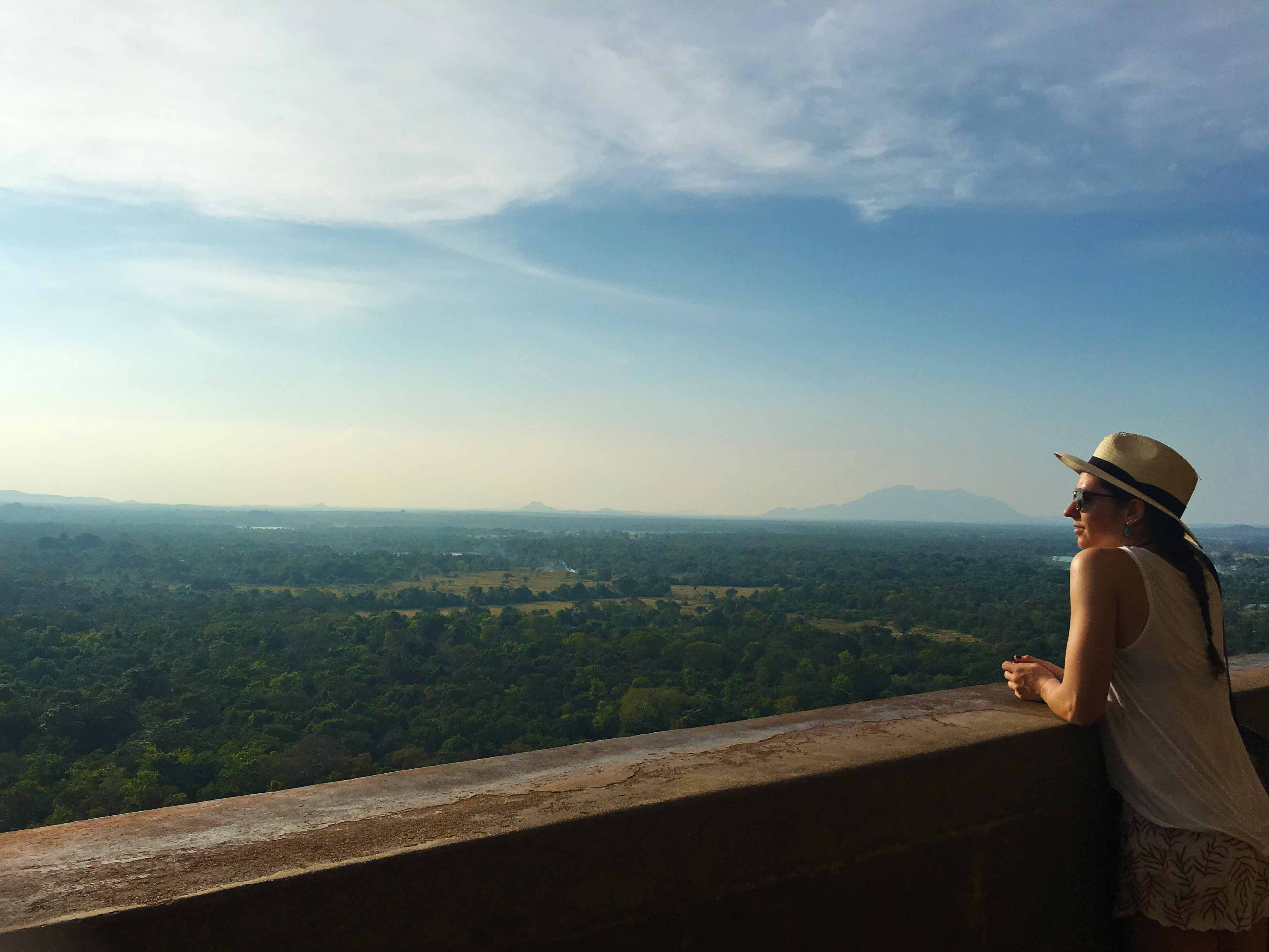 climbing sigiriya rock view sunset sri lanka