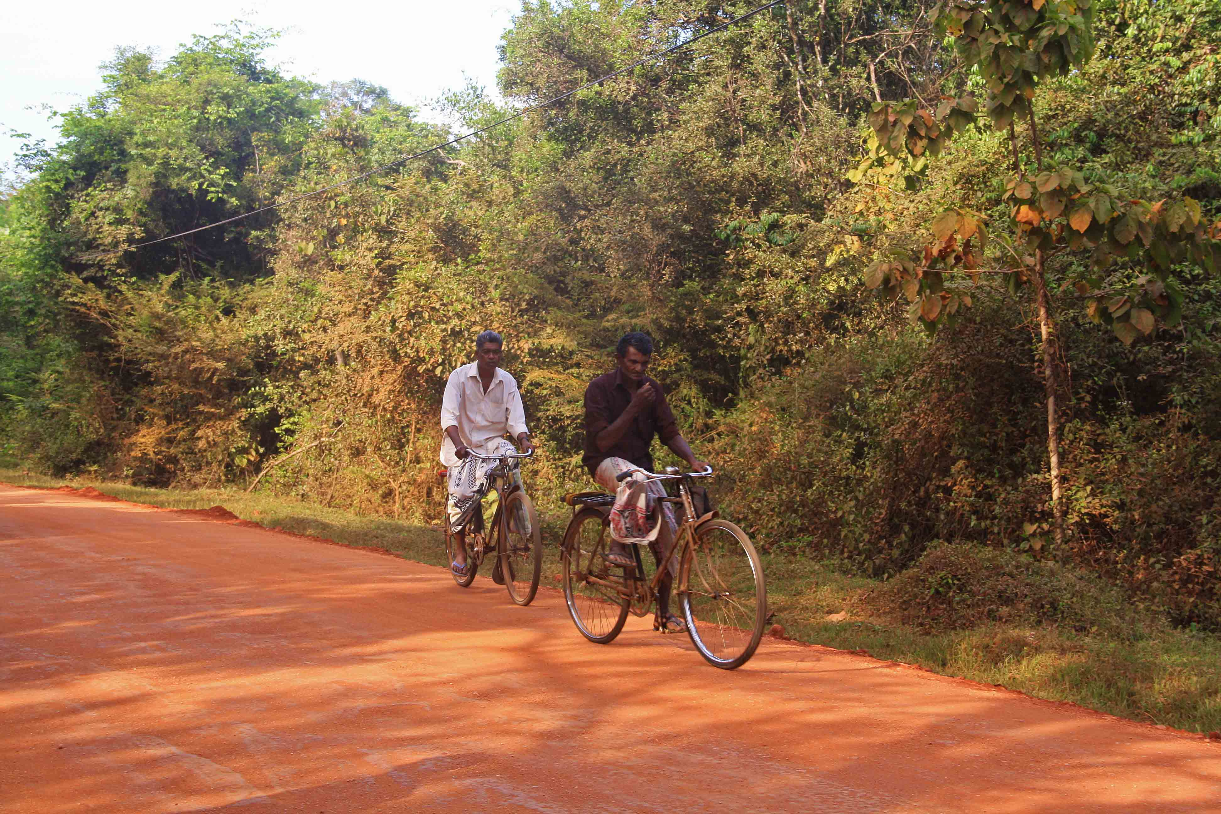 local men cycling sigiriya sri lanka