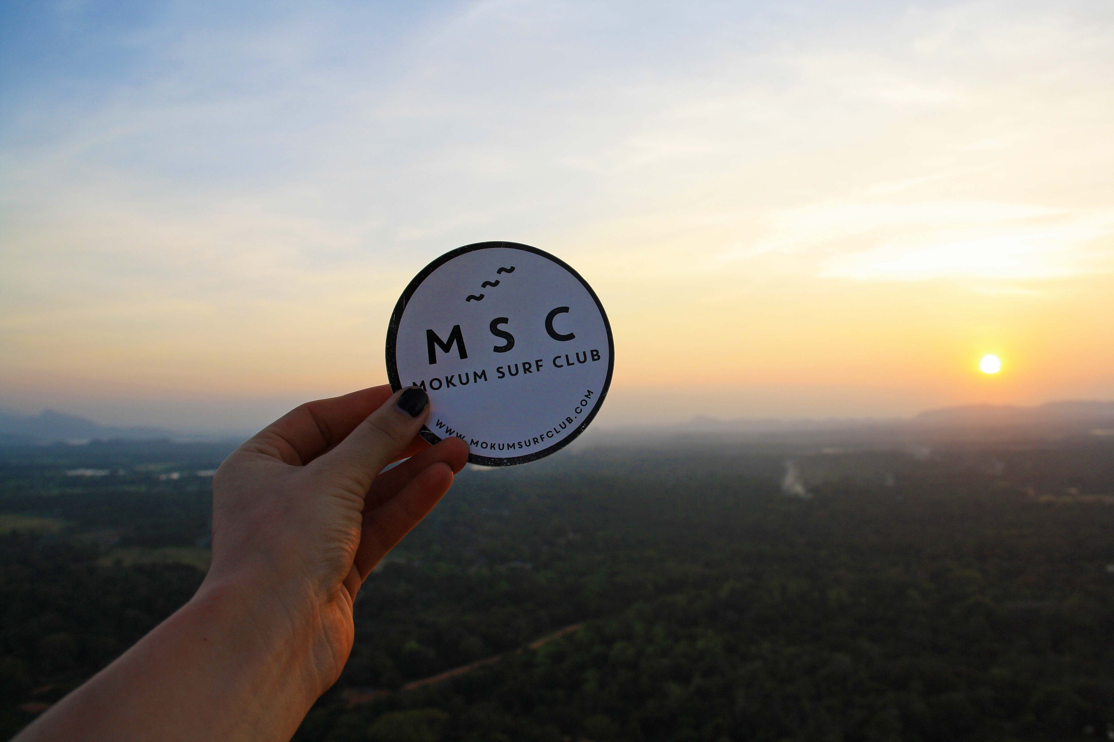 mokum surf club sticker sunset sigiriya rock sri lanka