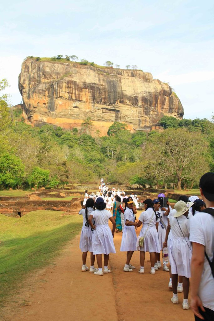 sigiriya rock school girls trip sri lanka