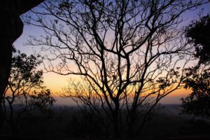 sigiriya rock sunset view trees sri lanka