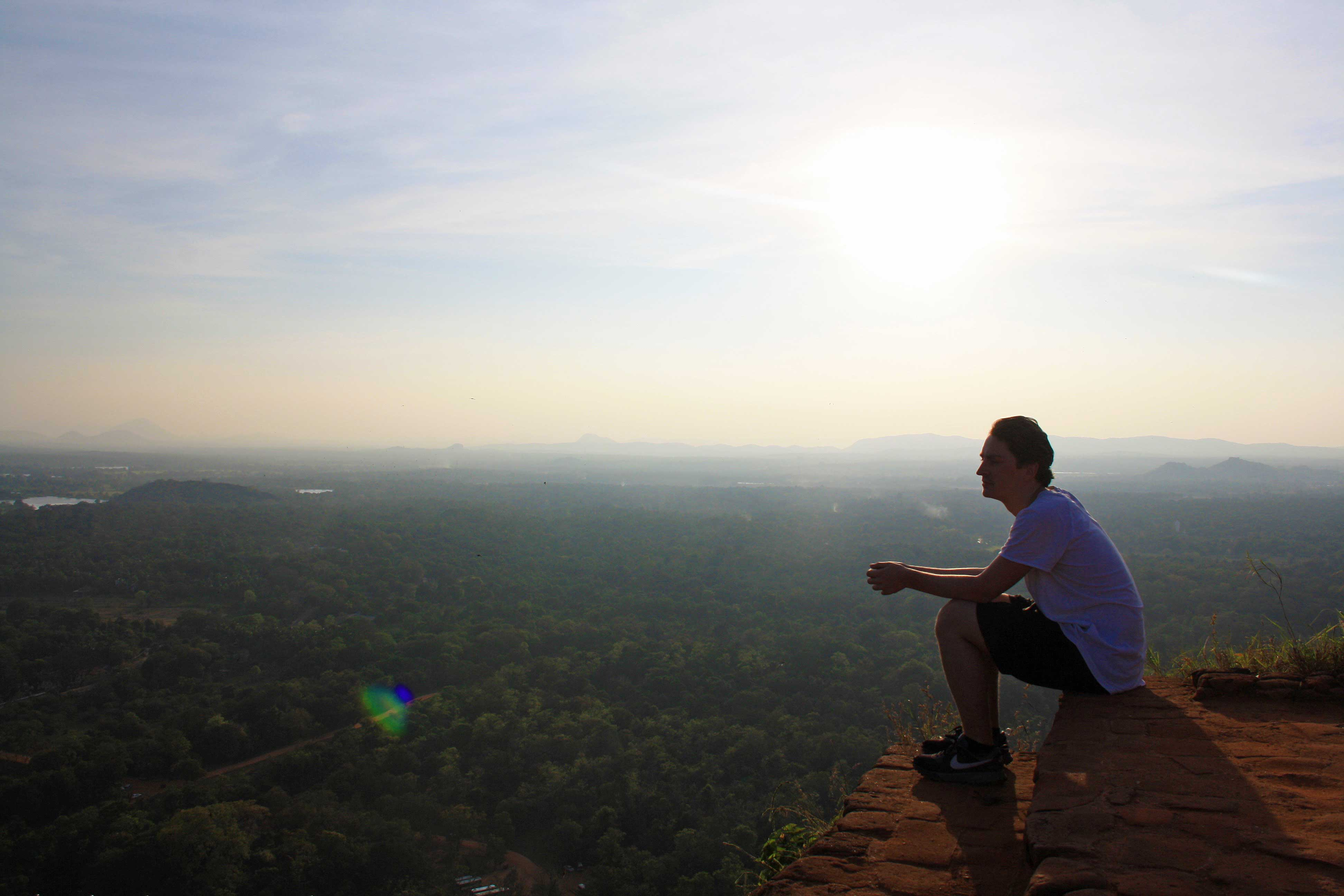 sunset view sigiriya rock valley sri lanka