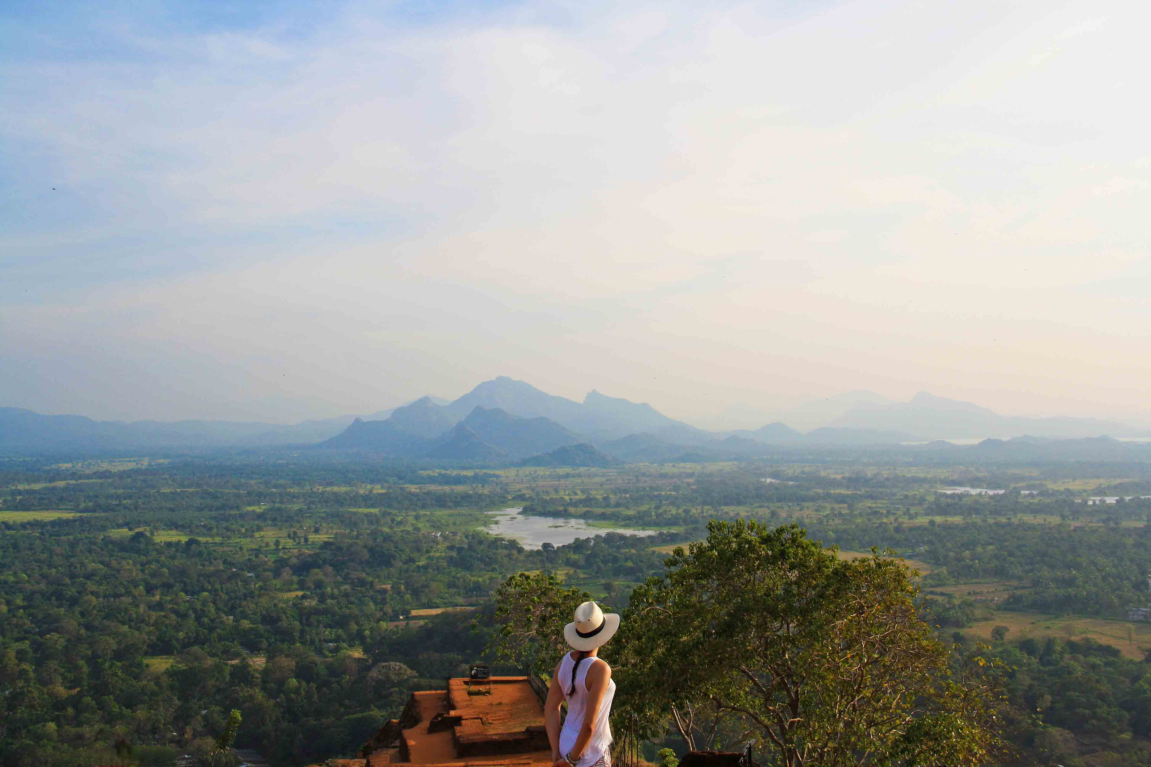 view sigiriya rock sunset nature sri lanka