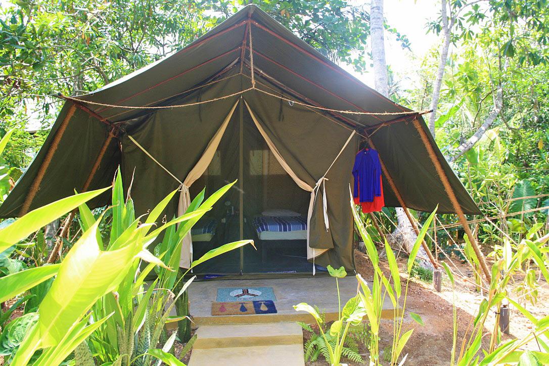 luxury tents accommodation camp poe surf ahangama sri lanka