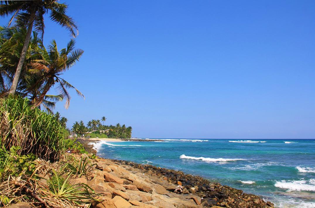 ahangama beach paradise view sri lanka