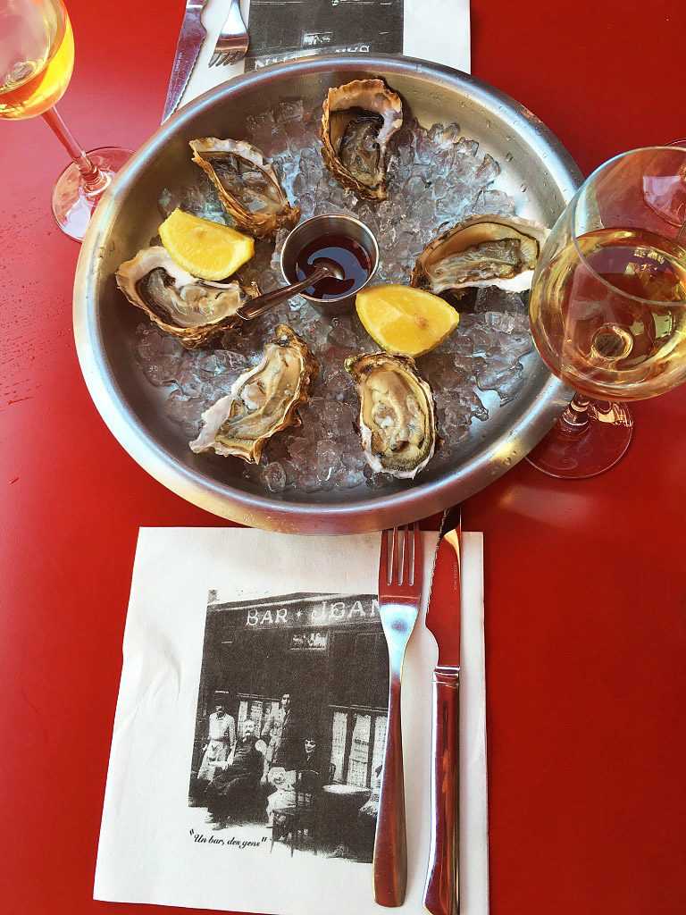 bar jean oysters restaurant food wine biarritz france