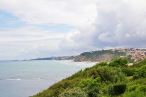 basque country view ocean guethary hossegor france