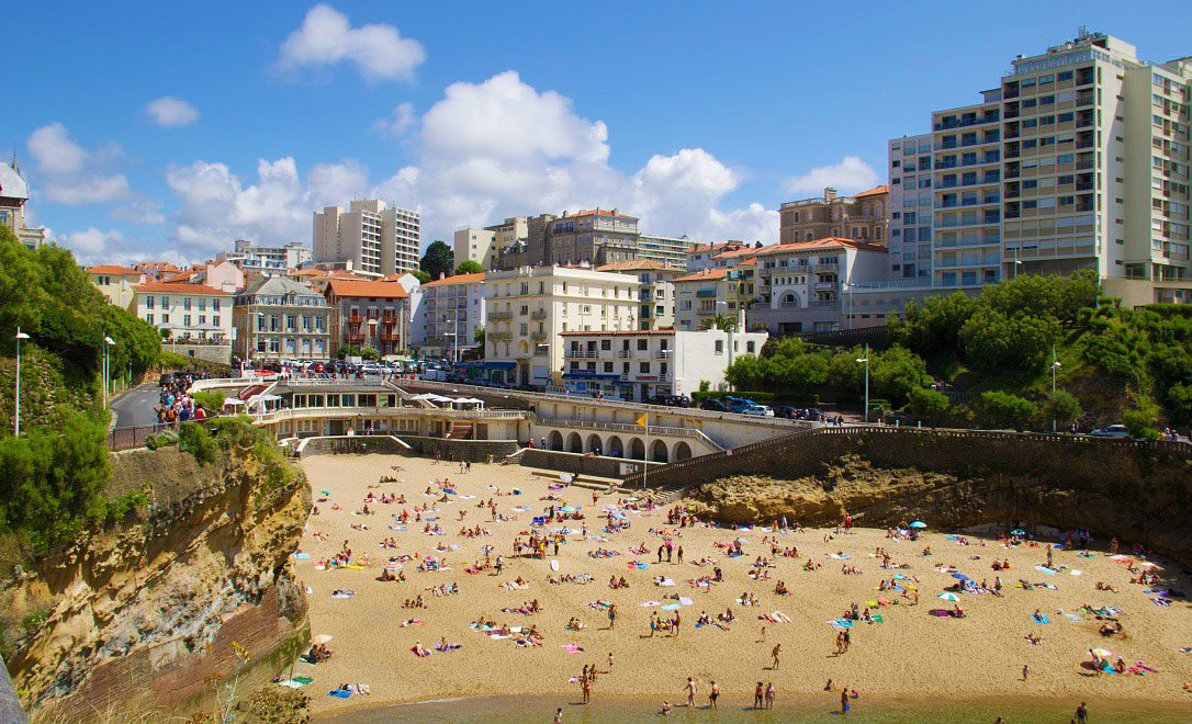port vieux beach biarritz old city france