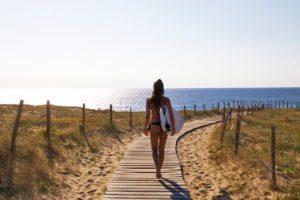 beach view hossegor surfing france