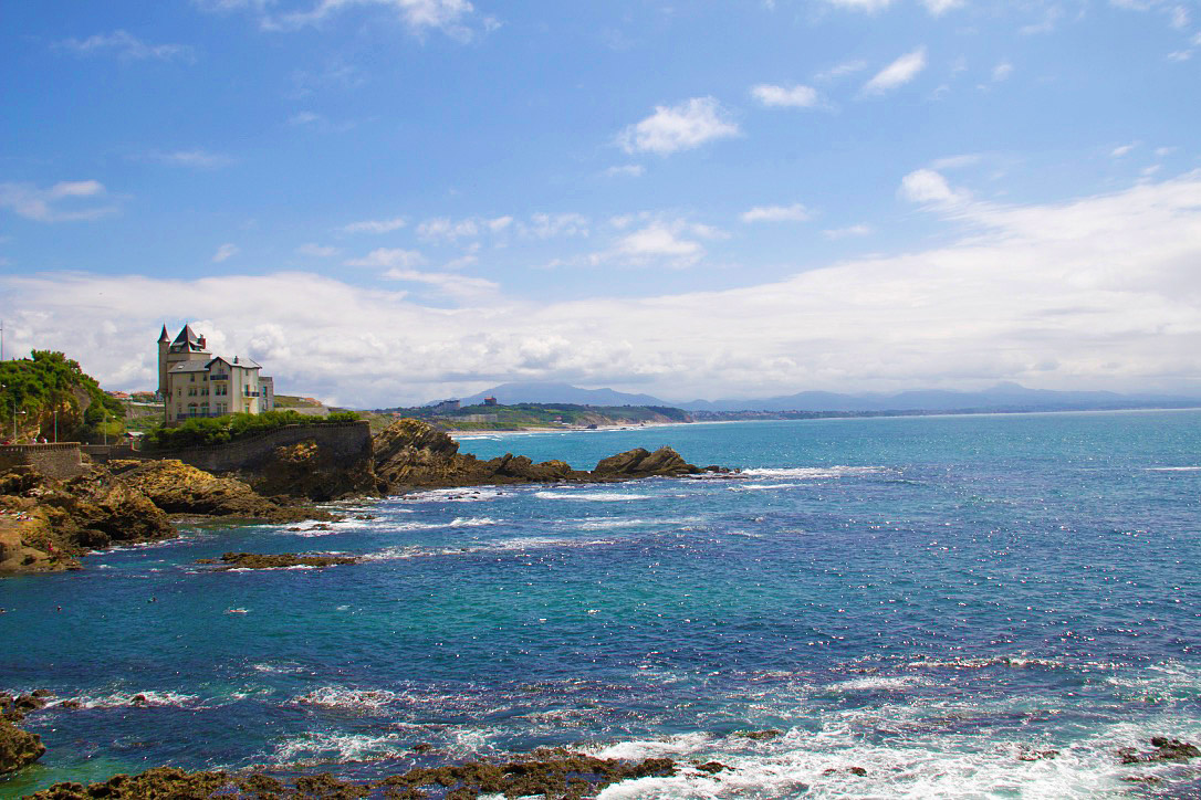 biarritz basque country coast line france