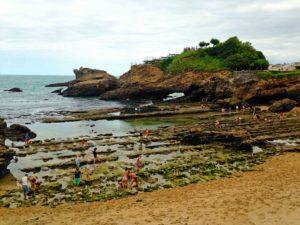 biarritz plage du miramar fishing town beach france