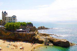 biarritz port vieux plage castle france