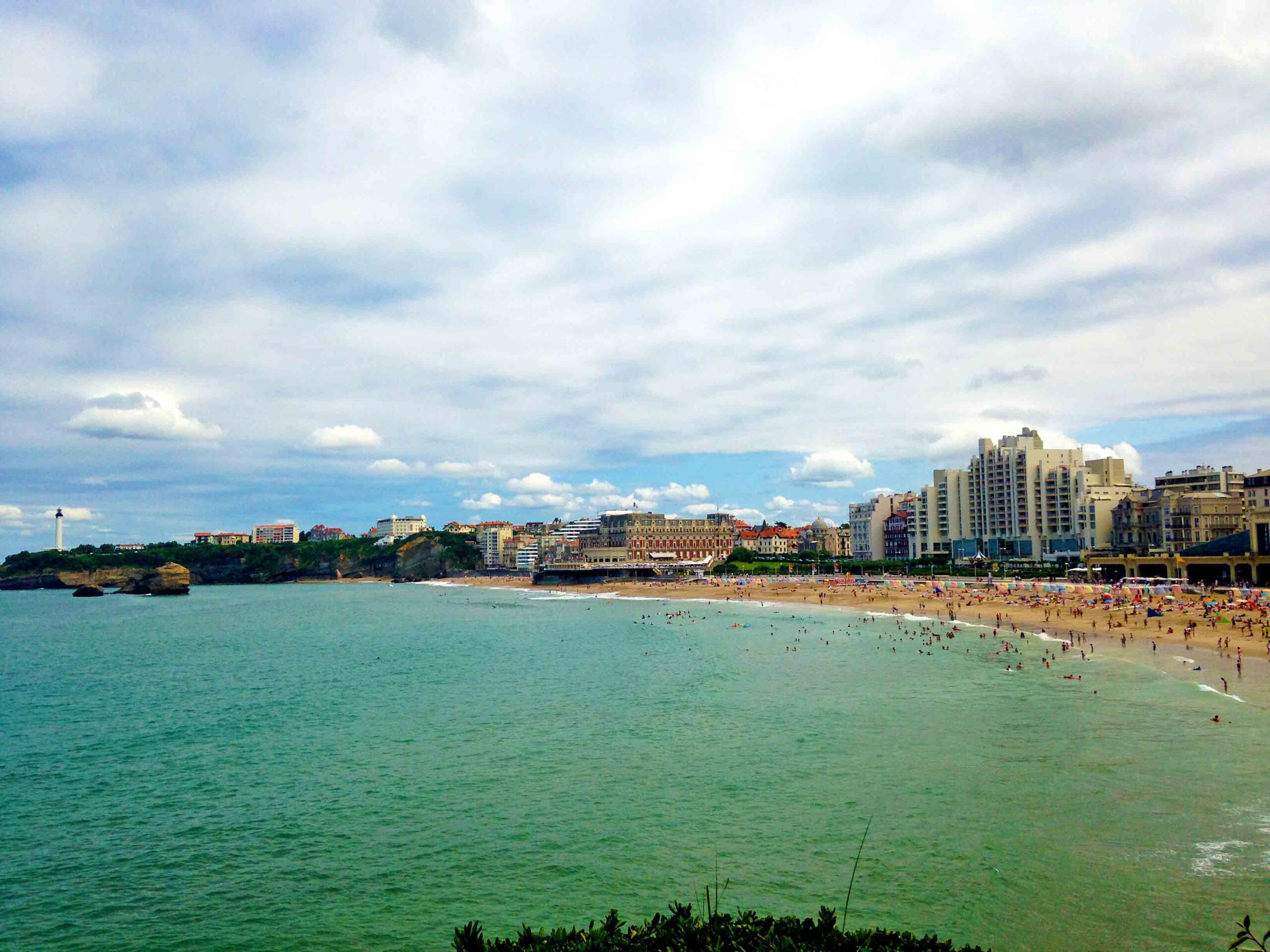 Beach view of Biarritz France