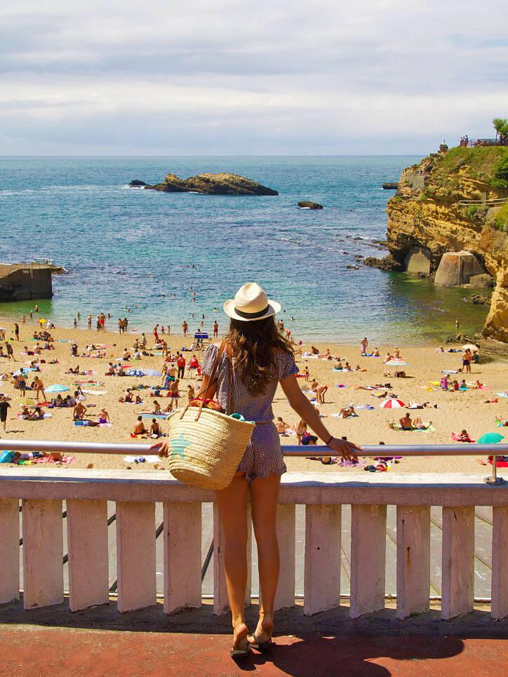 biarritz beach view ocean france