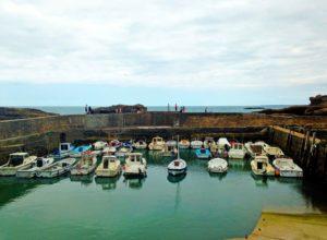 biarritz harbour ocean town france