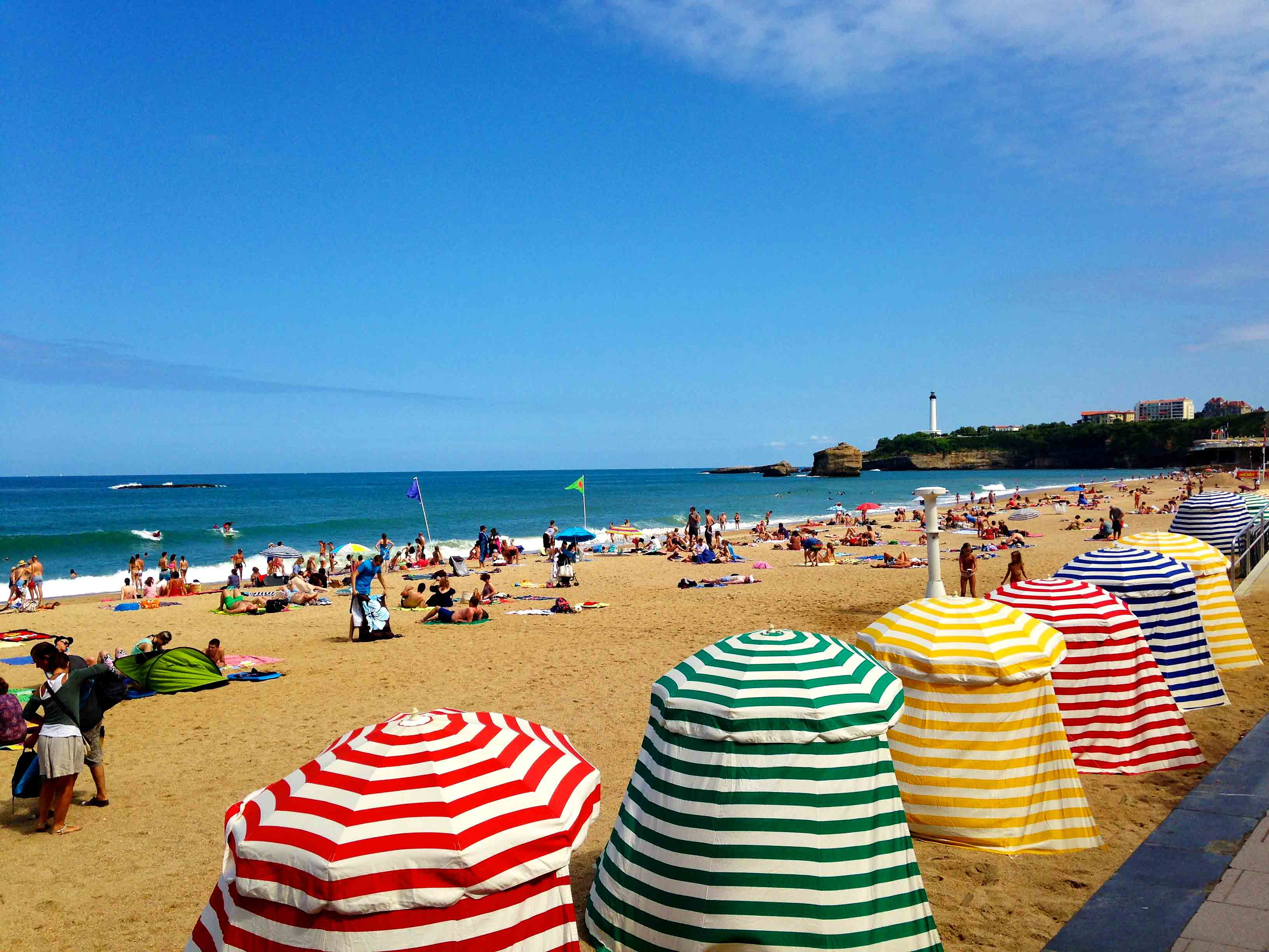biarritz plage beach view france