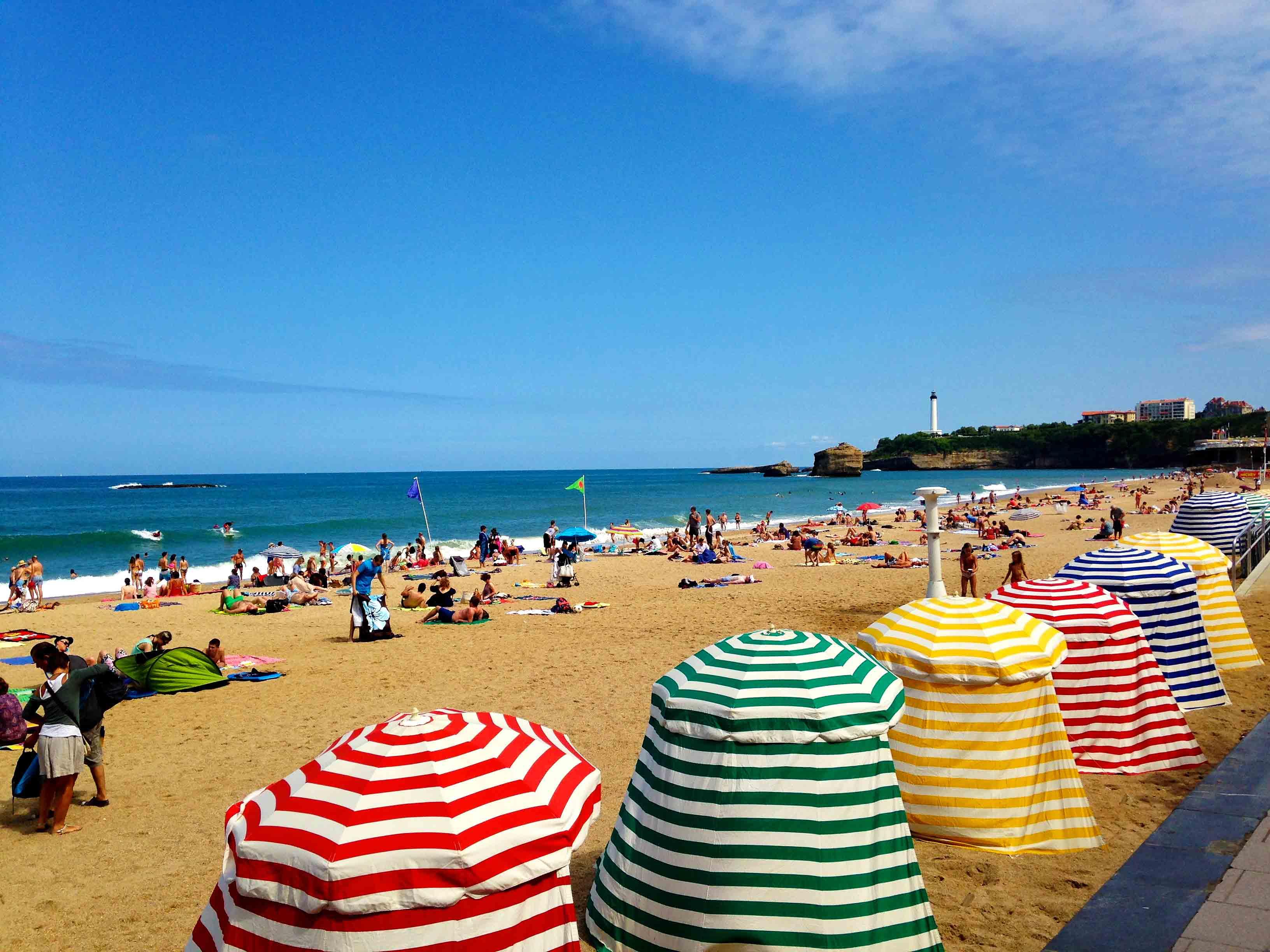 biarritz plage beach view france
