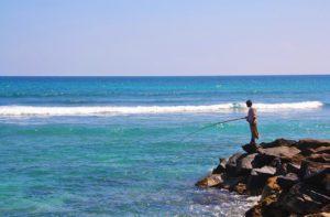 fisherman ocean ahangama sri lanka
