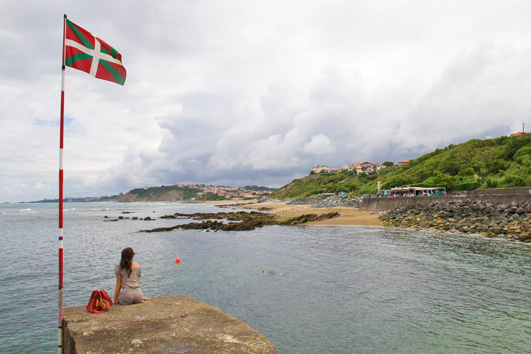 guethary basque country view france